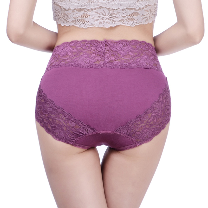 3 Pieces/Pack High-Rise Panties Women Underwear Big Size Brand Modal Lace Embroidery Lingerie Breathable Plue Size Female Briefs