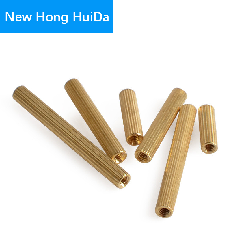 цена на M2 Brass knurl Standoff Female To Female Round Threaded Pillar PCB Motherboard Spacer