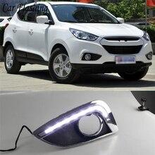 רכב מהבהב 1 סט 12V ABS LED עבור יונדאי IX35 ix 35 2010 2011 2012 2013 רכב סטיילינג LED DRL בשעות היום ריצת אור עמיד למים