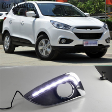 Auto Knipperende 1Set 12V Abs Led Voor Hyundai IX35 Ix 35 2010 2011 2012 2013 Auto Styling led Drl Dagrijverlichting Waterdicht