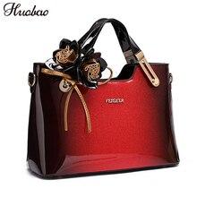 2018 новые женские лакированные кожаные сумки Дизайнерские высокого качества женские сумки роскошная женская сумка на плечо мода сумка с цветами