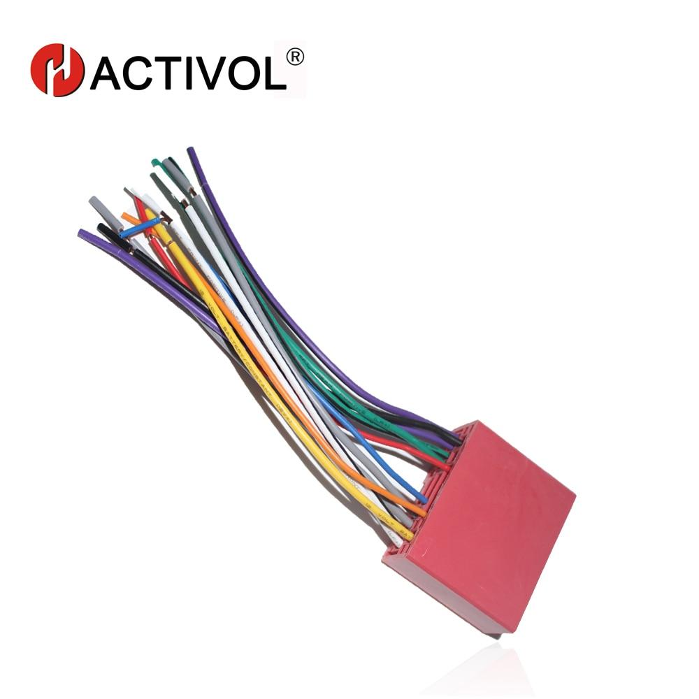 Car Radio Stereo Female ISO Plug Power Adapter Wiring Harness for Mazda 2  Mazda 3 Mazda 5 Mazda 6 ISO harness power cable
