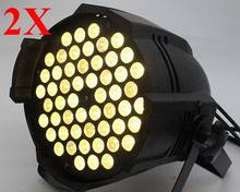 2pcs warm white led par 64 54x3w DMX DJ lighting for party disco free shipping(China)
