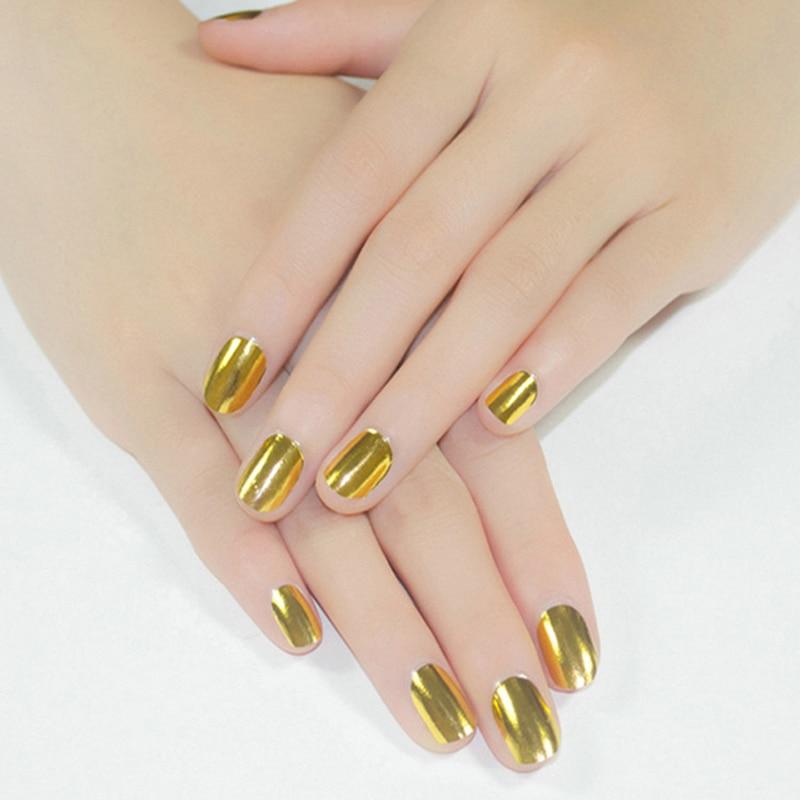 1pcs Silver Gold Nail Foils Stickers Nail Tips Decorations DIY Guide ...