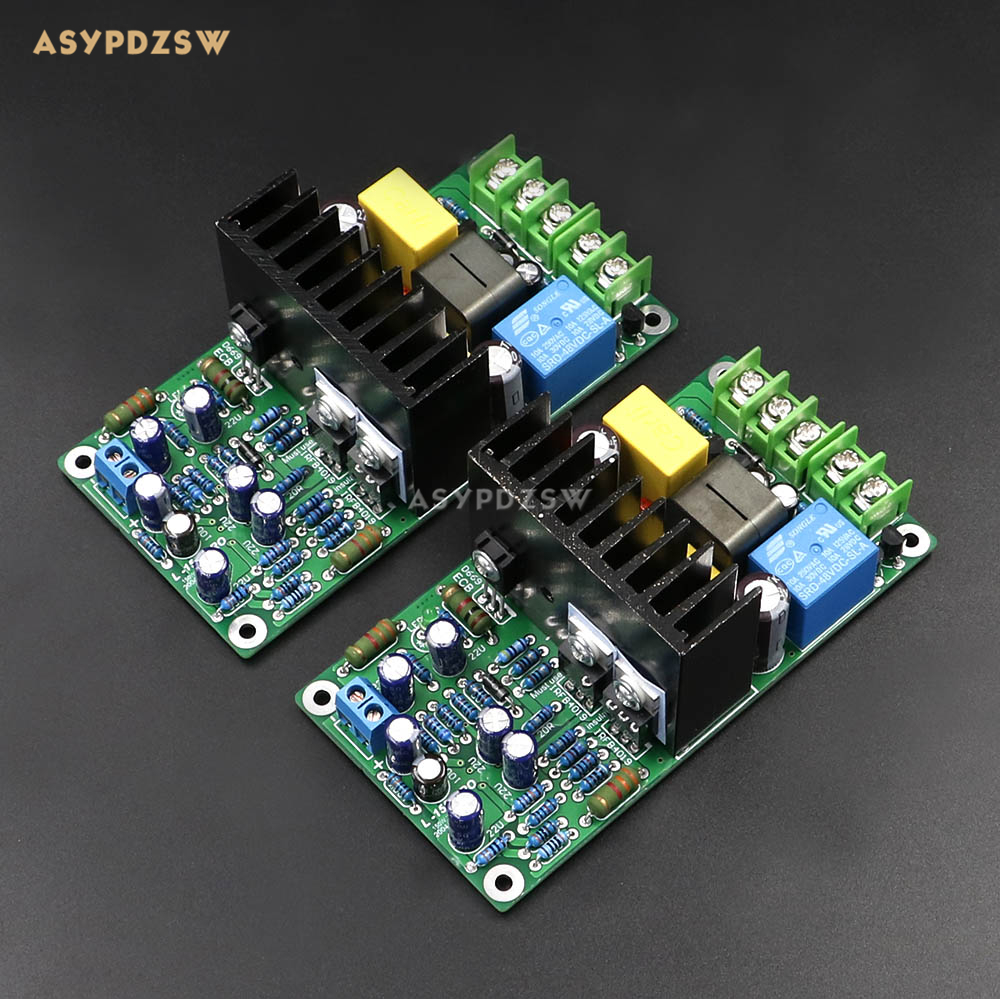 NEW Dual channel L15D-PRO Class D IRS2092 IRFB4019 Stero Power amplifier finished board (2 boards) 300W irs2092 irfb4019 class d power amplifier board speaker relay protection 300w
