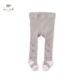 DB2815-N dave bella autumn baby girl tight baby fashionable tights girl jacquard tight image