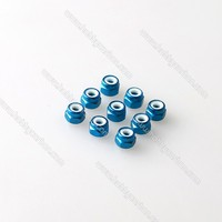 Free Shipping 20pcs Lot M5 Colored Aluminum Lock Nut With Nylon CCW Lock Nut