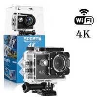 F600 F600R 4K Wifi Action Camera 16MP 170D Sport DV 30M 1080P Go Waterproof Pro Extreme Sports Video Bike Helmet Car Cam Dvr
