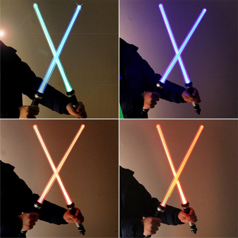 2pcs / set Star Wars Led Flashing Sword Cosplay Arme Lightsaber - Produse noi și jucării umoristice
