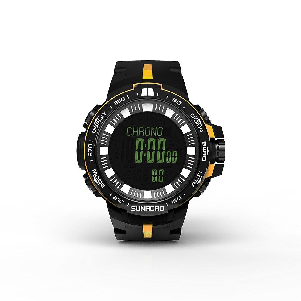 サンロード屋外釣りバロメーター時計デジタルスポーツ腕時計男性5atm防水高度計コンパス  グループ上の スポーツ & エンターテイメント からの 釣り道具 の中 1