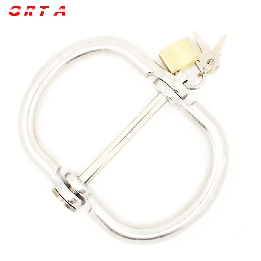 Aliexpresscom Køb Qrta Sølv Rustfrit stål Håndjern-3045