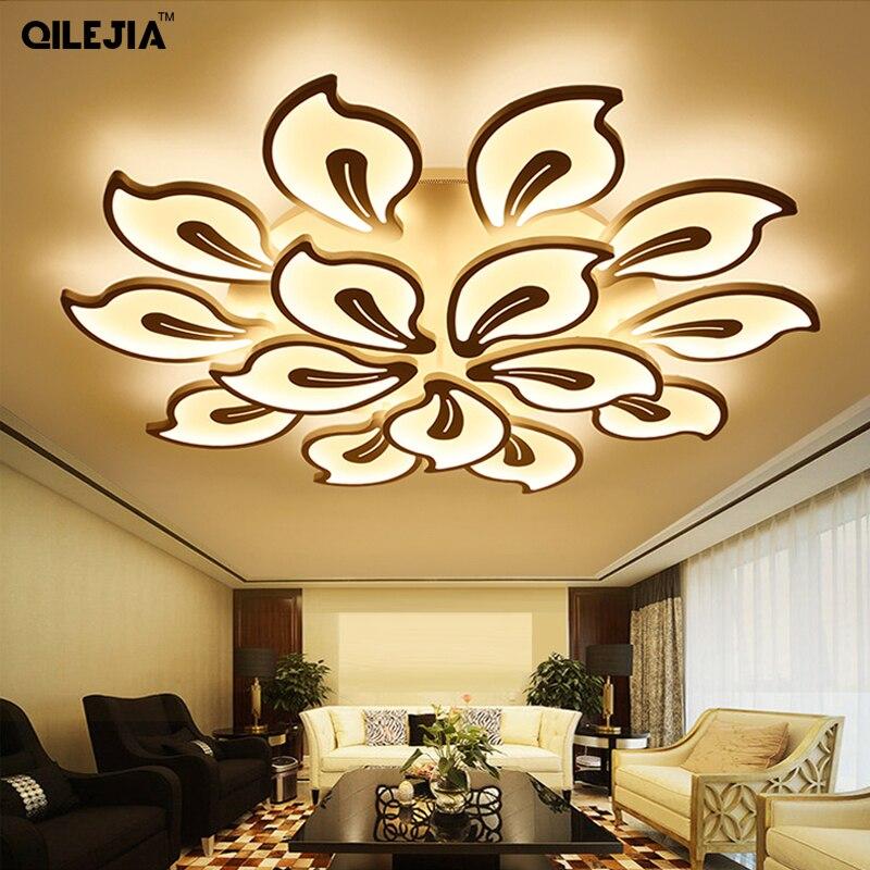 アクリル現代の天井リビングルームベッドルーム白塗装飾り led 天井ランプリモコン照明器具  グループ上の ライト & 照明 からの シーリングライト の中 1