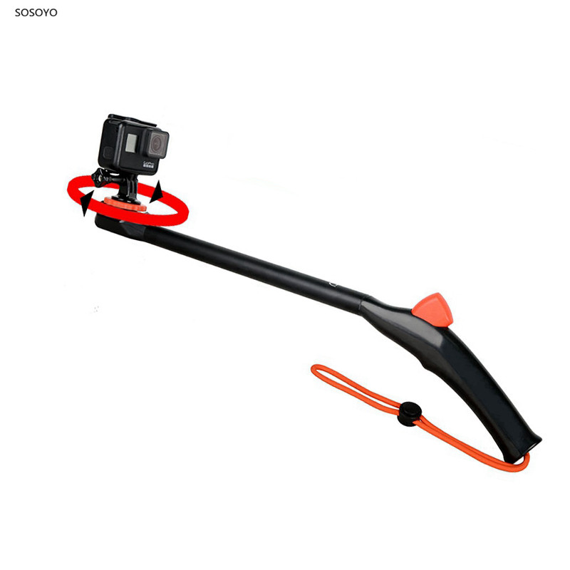 Diving Selfie Stick 360 Degrees One-click Flip Selfie Stick Handheld Bracket For GoPro Hero 7 6 5  Sjcam Xiaomi YI Action Camera