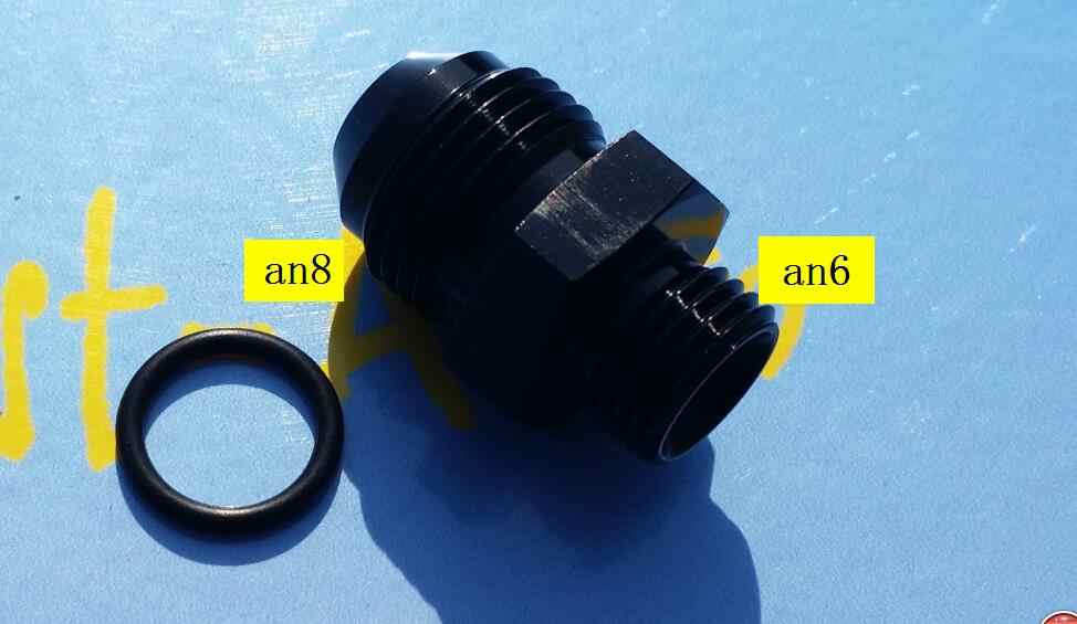 male ORB AN6 ( 6AN AN 6 ) to an8 male Adapter With O-Ring fitting