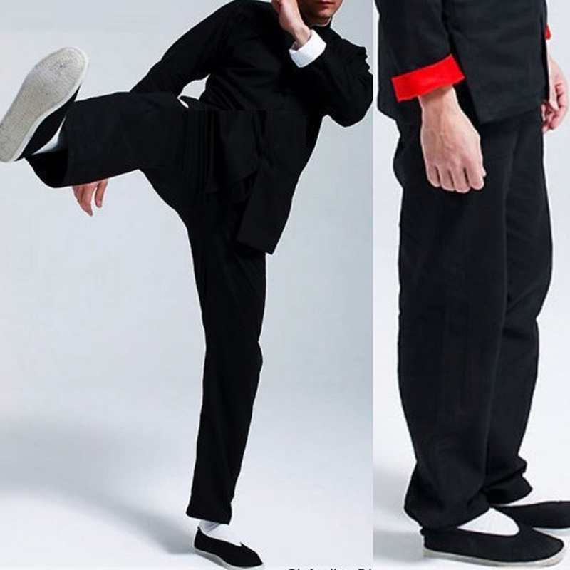 Bruce Lee Vintage Chinese Wing Chun Kung Fu Uniform Martial Arts Tai Chi Suits Classic Cotton Pants