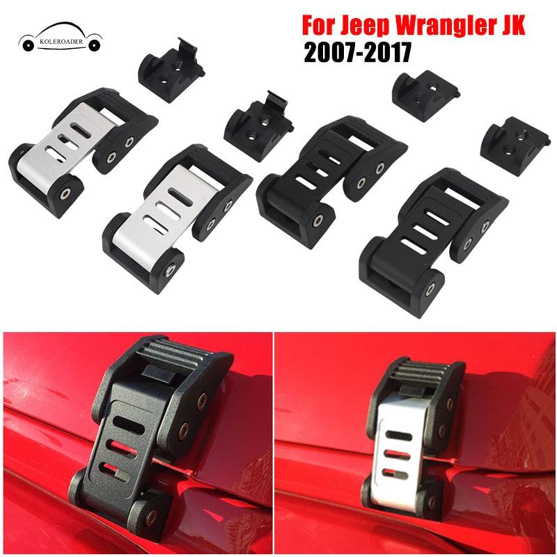 Здесь продается  Heavy Duty Aluminium Hood Lock Bracket Latches Hoods Catch Anti-Theft Key For Jeep Wrangler JK 2007-2017 Car Styling KOLEROADER  Автомобили и Мотоциклы