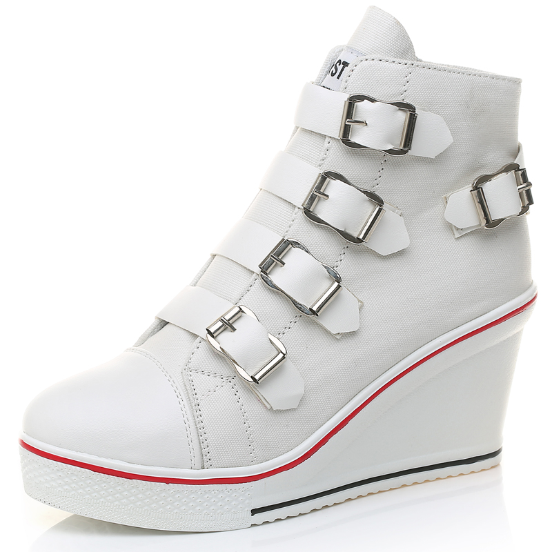 Womens Shoes Vulcanize Casual Shoes Spring Autumn Sneakers Buckle Strap High Top Lady Fashion Sneakers Platform Shoes FootwearWomens Shoes Vulcanize Casual Shoes Spring Autumn Sneakers Buckle Strap High Top Lady Fashion Sneakers Platform Shoes Footwear