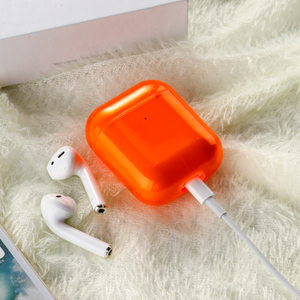 Image 3 - Voor Airpods Case Siliconen Snoep Kleur Transparant Fundas Voor Air Pods 2 Oortelefoon Cases Protector Voor Airpods Pro Soft Tpu cover