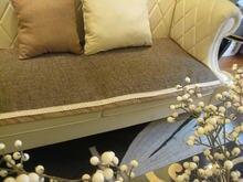 Качественный льняной коврик для дивана противоскользящий модный