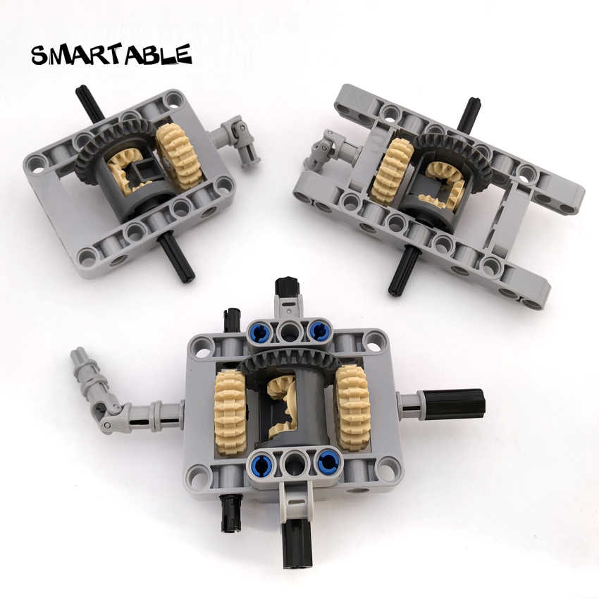 Smartable MOC Technic Framed Differential Gear Set Building Block Chassis Parts For Cars Compatible All Brands Technic 2pcs/lot