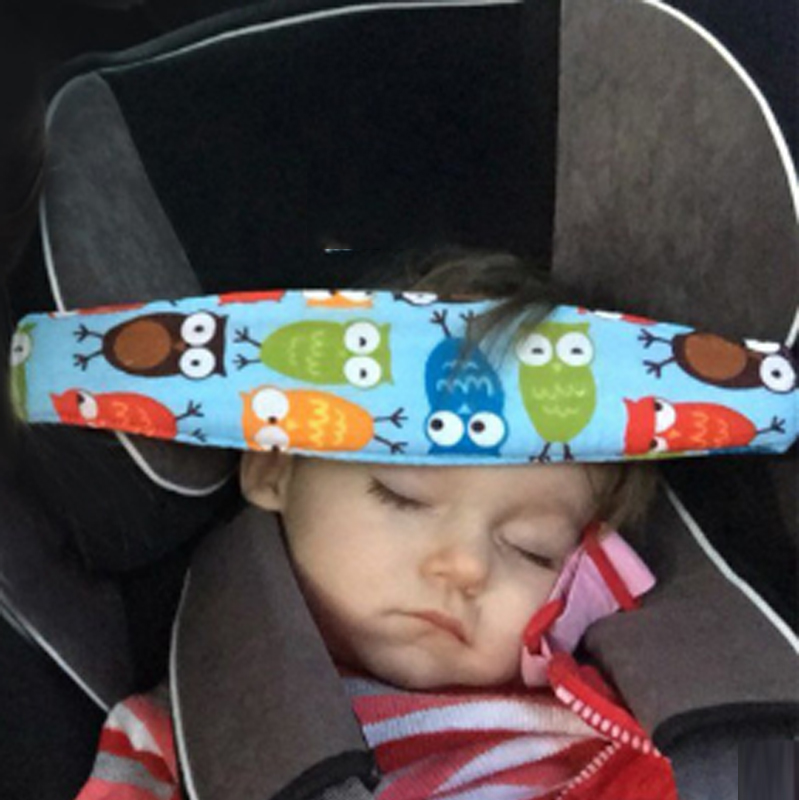 Infant Baby Safety Sleep Belt Car Seat Head Support Children Fastening Belt Adjustable Playpens Positioner Pillow Baby Neck