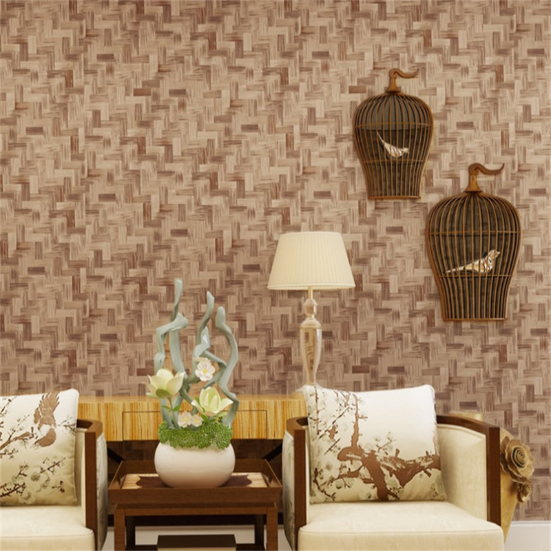 beibehang Chinese - style retro imitation straw wallpaper straw mats bamboo mat wallpaper traditional classical folk flavor wall chinese handmade traditional retro classic carved laozi tao te ching bilingual bamboo slip