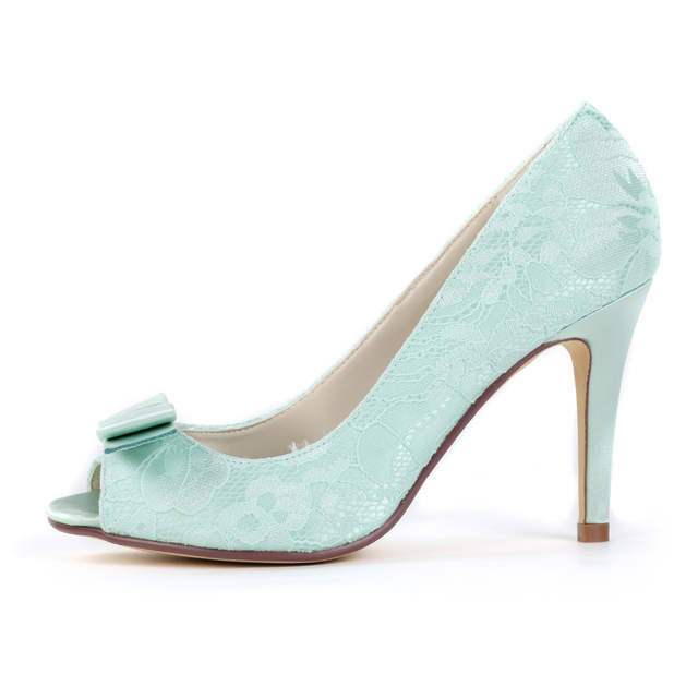 Online Shop Creativesuga mint light green lace heels sweet bow pumps bridal  bridesmaid wedding shoes prom girls brithday party dress shoes  5f9de319e62b