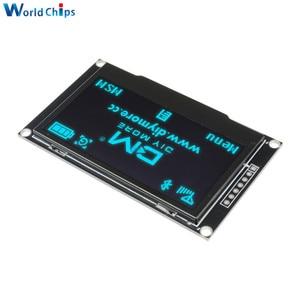 "Image 4 - Diymore Blau 2,42 ""2,42 inch LCD Screen 128x64 OLED Display Modul IIC I2C SPI Serielle 12864 OLED display für C51 STM32 SPD0301"