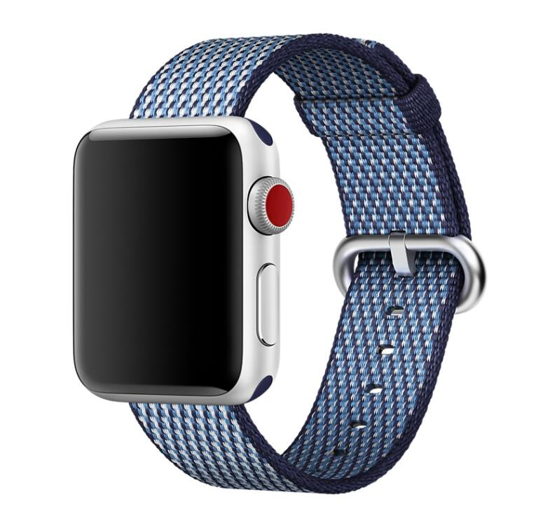 LEONIDAS New Woven Nylon Strap for Apple Watch Band Replacement Watch Strap for Apple Watch Bands 42mm eache silicone watch band strap replacement watch band can fit for swatch 17mm 19mm men women