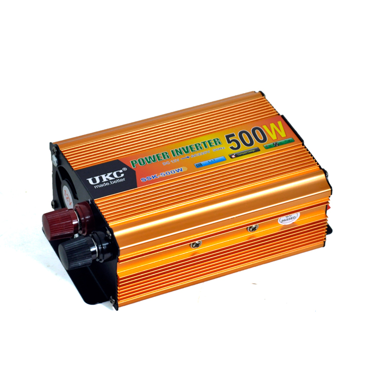 Vehicle 500W Car Power Solar Inverter Converter DC 12V to AC 220V Charger Adapter Portable Car inverters maylar 22 60vdc 300w dc to ac solar grid tie power inverter output 90 260vac 50hz 60hz