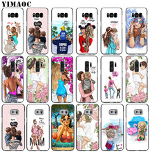 YIMAOC Fashion Brown Hair Baby Mom Girl Queen Soft Silicone Phone Case for Samsung Galaxy S9 + S8 Plus S6 S7 Edge Note 8 9 Cover