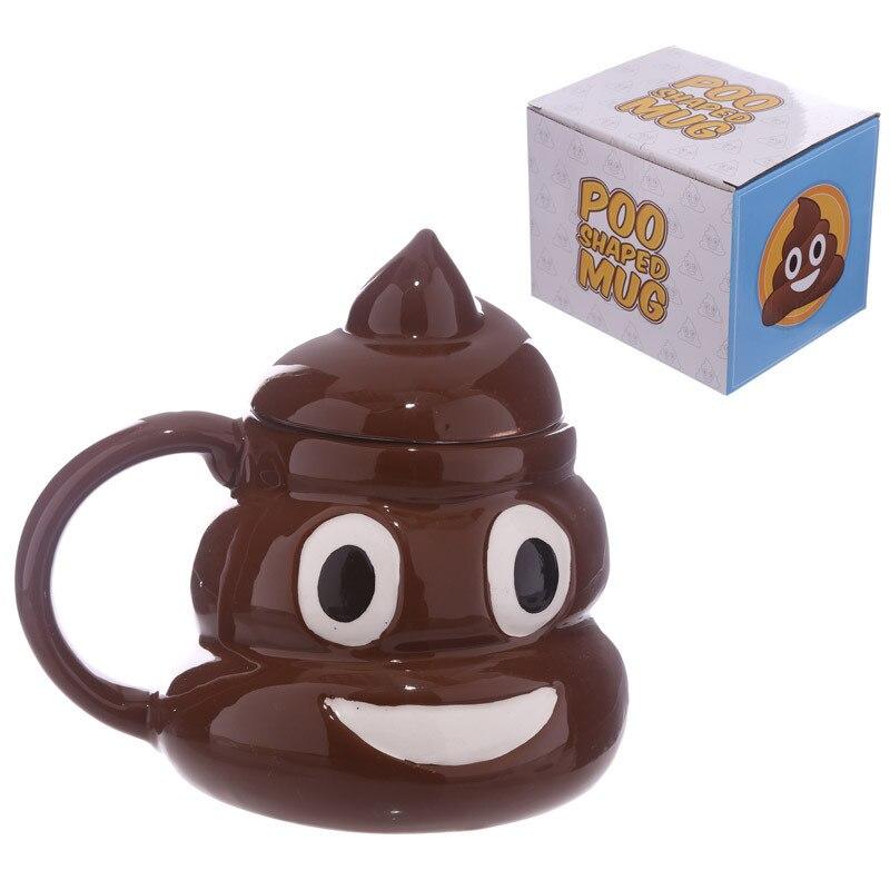 A Spoof Funny Shit Mug Stool Ceramic Mug with Lid Coffee Mug