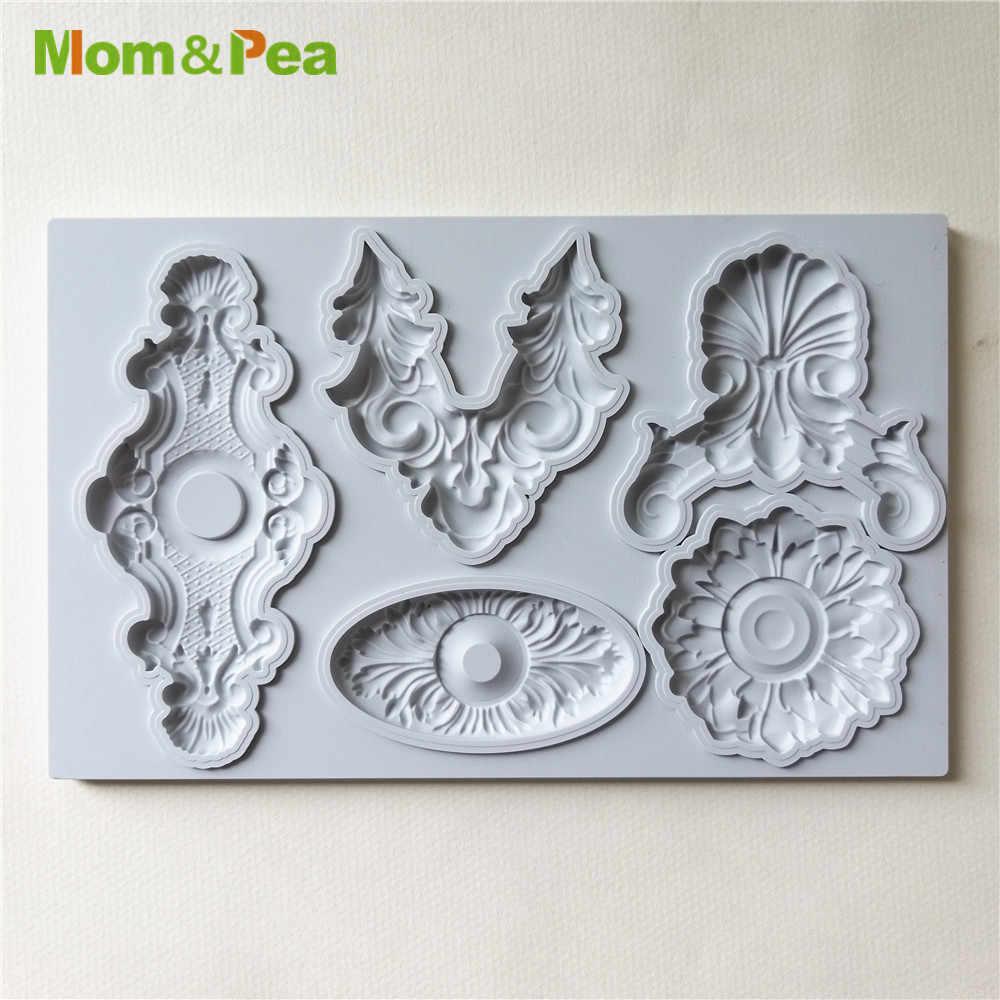Mom & Pea GX268 декоративные силиконовые формы для украшения торта помадка торт 3D формы пищевого класса