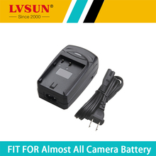 LVSUN 1.2-8.4V  800mA with USB Car Charger Digital Camera Charger Charging+battery plate/car plug/AC cord for Canon LPE8 battery