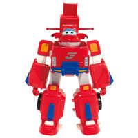 Moda quente 17cm * 11cm super asas modelo transformação robô avião figuras de ação brinquedo super asa para presente aniversário brinquedos
