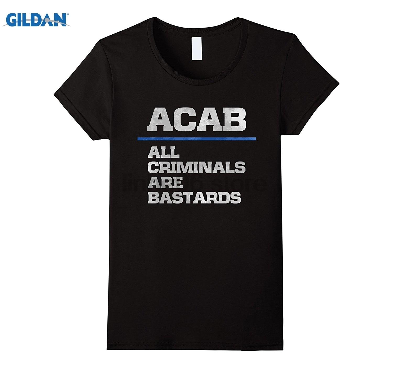 GILDAN Police support tshirt, law enforcement joke tee Funny mens print t-shirt Dress female T-shirt ...