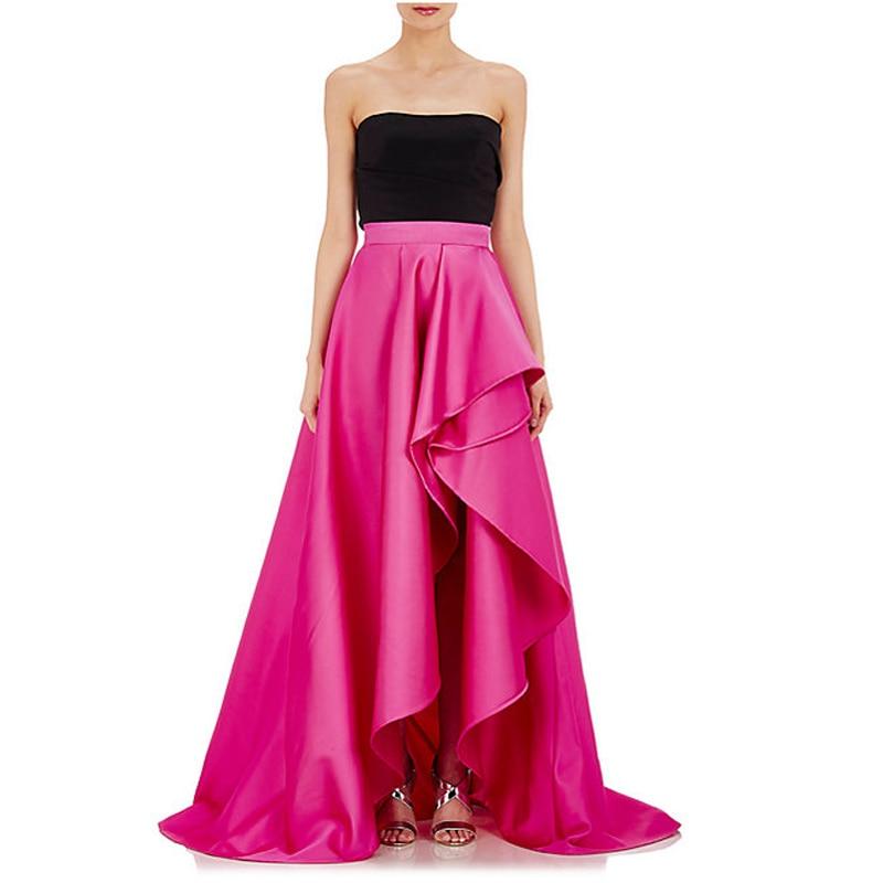 vintage fuchsia high low taffeta skirts for