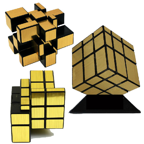 Nytt merke ShengShou Børstet Sølv & Gull Speil Cubo Magisk Cast - Puslespill - Bilde 3