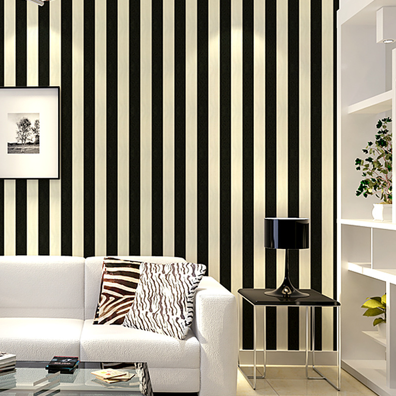 beibehang Pvc hotel engineering wallpaper simple black and white vertical stripes wallpaper living room bedroom decorative wall beibehang shop for living room bedroom mediterranean wallpaper stripes wallpaper minimalist vertical stripes flocked wallpaper page 1