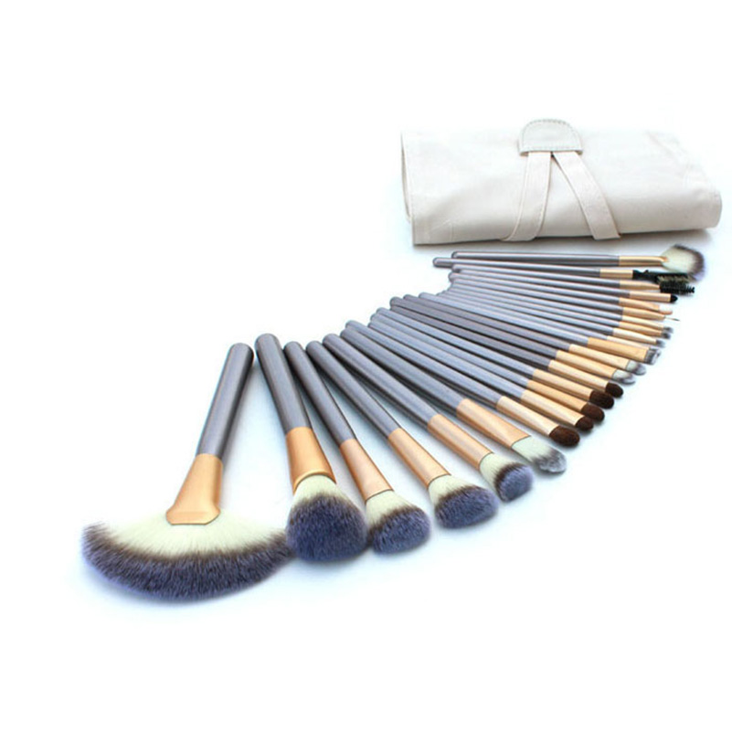 24PCS Makeup Brush Make Up Tools Cosmetic Brushes Set Synthetic Hair Foundation Powder Blush Lip Beauty Tools Brushes hot sale 2016 soft beauty woolen 24 pcs cosmetic kit makeup brush set tools make up make up brush with case drop shipping 31
