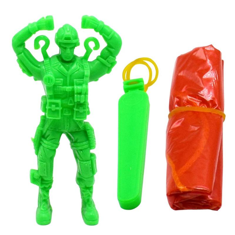 Plastic Ejecting Parachute Toy Outdoor Soldier Hand Throwing Parachute Toys hand throwing kids mini play parachute toy soldier outdoor sports children s educational toys free shipping