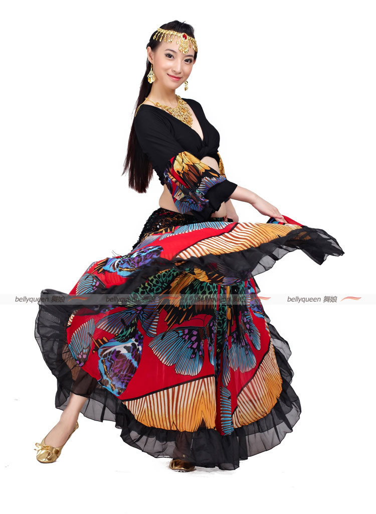 New style gypsy clothes belly dance costume indian dance set bellydance wear 2pcs Top Skirt 2