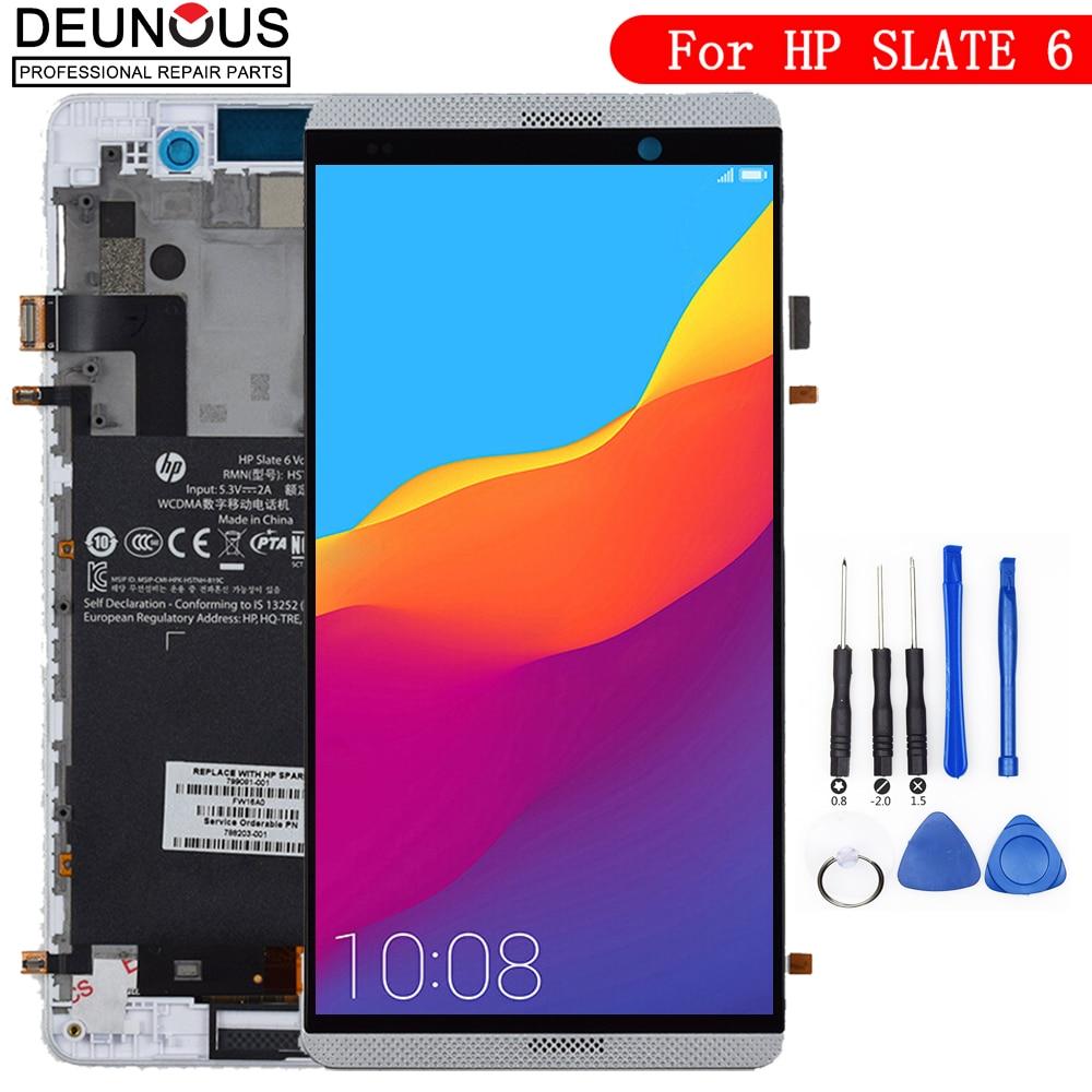 Nouveau pour HP ardoise 6 onglet vocal plein écran LCD écran tactile verre assemblage outils gratuits remplacement numériseur avec cadre