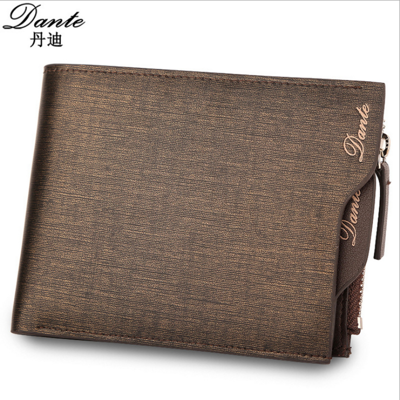 100% top quality cow genuine leather men wallets, fashion gold sand purse dollar price,carteira masculina free shipping chesapeake sand dollar dlr53592b