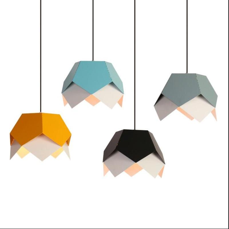 Modern pendant light LED colorful indoor lighting iron metal lamp Window vintage bar cafe shop decorate light fixture AC110-265V
