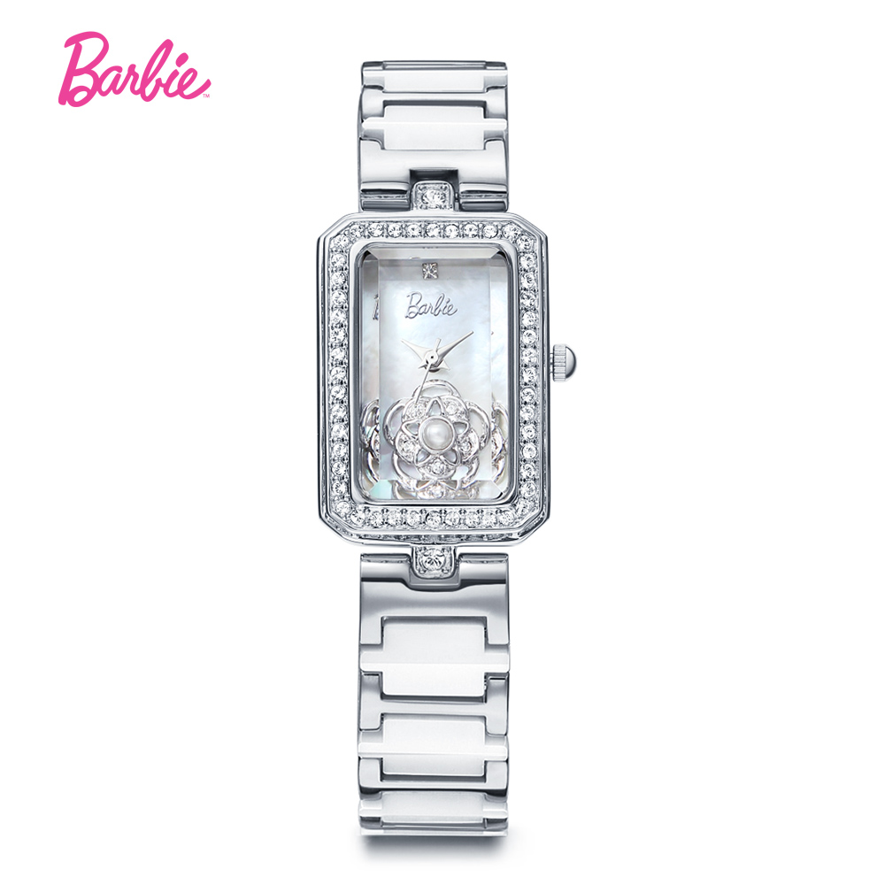 Barbie 2017 Ceramic Strap Watch Women Fashion Casual Quartz Wristwatches Luxury Girl Flower Pearl Watches Gift for Woman hatber optimum barbie the pearl princess 20627