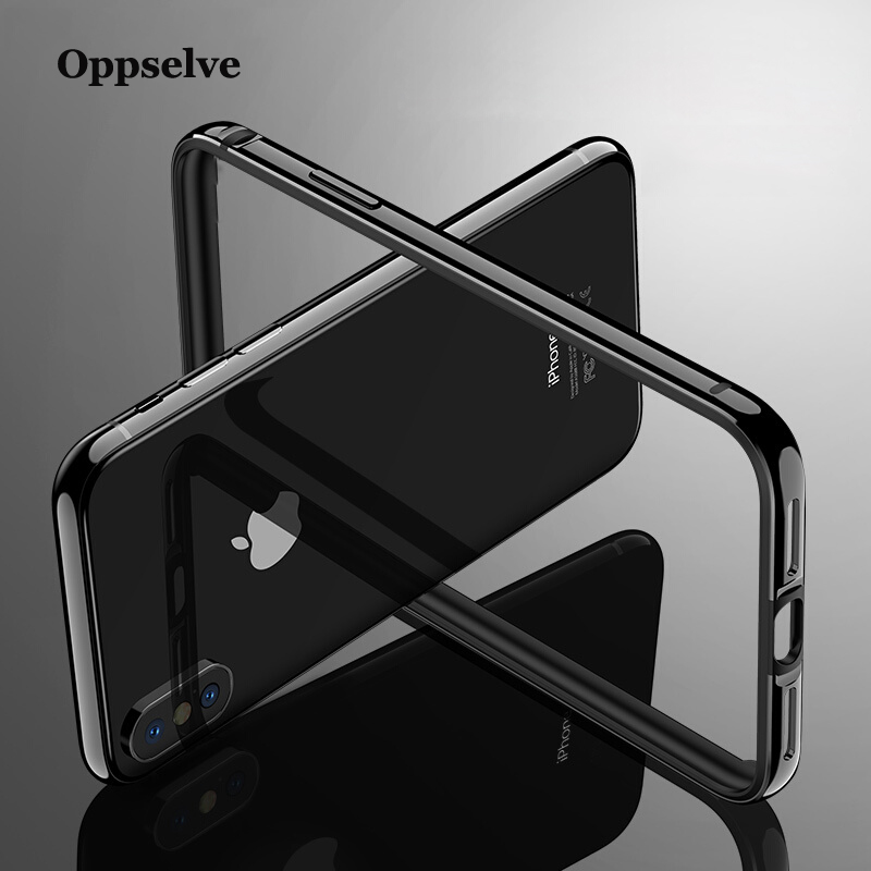 Luxury Phone Case For iPhone Xs Max Xr X Bumper Aluminum Back Border Frame Case Cover For iPhone 8 7 6 6s Plus Coque Funda Capa in Fitted Cases from Cellphones Telecommunications