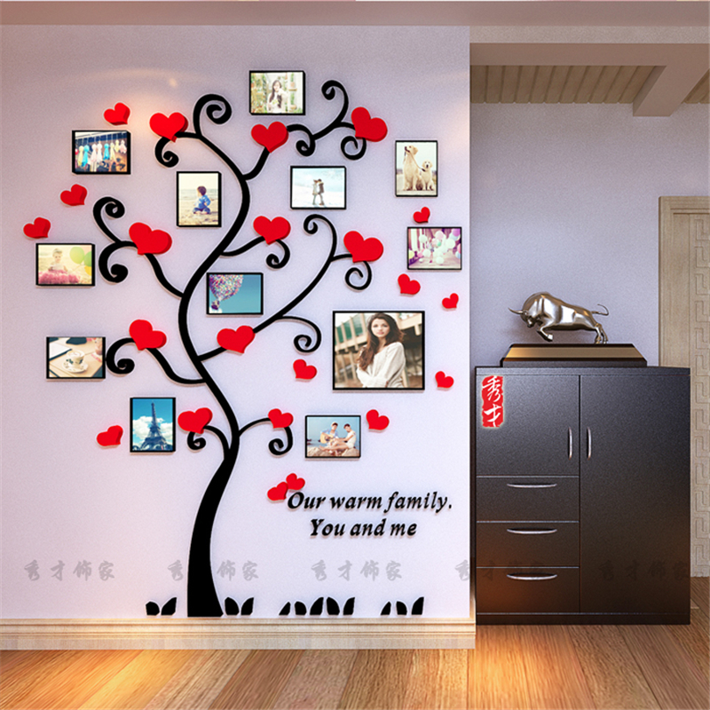 Creative kids diy d sticker romantic love tree photo