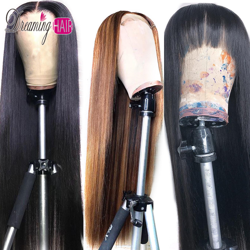 13x6 Part 27 Honey Blonde Human Hair Wigs Brazilian Straight Lace Front Human Hair Wigs For Women Remy Hair Wig With Baby Hair