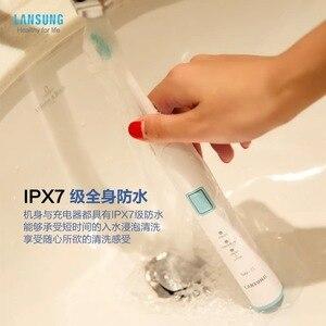 Image 3 - LANSUNG I1 lévitation magnétique sonique brosse à dents électrique PX7 étanche minuterie intelligente Rechargeable brosse à dents 220V
